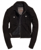 Superdry Suede Billie Bomber Jacket Black