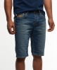 Superdry Officer Slim Denim Shorts Mid Blue