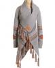 Superdry Navajo Tassel Cardigan Grey