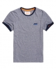 Superdry Orange Label Cali Ringer T-Shirt Blau
