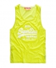 Superdry Vintage Low Arm Vest Yellow