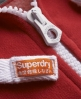 Superdry High Neck Zip Hoodie Red