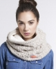 Superdry Nep Cable Snood Beige