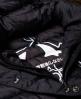 Superdry Fuji Slim Kapuzenjacke mit Doppelreißverschluss Schwarz