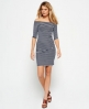 Superdry Bardot Bodycon-Kleid Marineblau