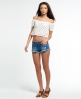 Superdry Prairie Daze Crochet Top Weiß