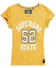 Superdry Varsity Applique Roll Cuff T-shirt Yellow