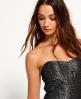 Superdry 50's Jacquard Luxe Kleid Schwarz