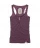 Superdry Winter Lace Button Vest Purple