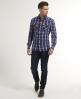 Superdry Washbasket Check Shirt Blue