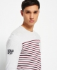 Superdry Solent Stripe Long Sleeve T-shirt Grey