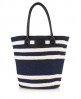 Superdry Striped Beach Tote Bag Navy