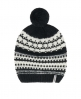 Superdry Muts met pompon en Scandinavisch patroon  Cream
