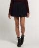 Superdry Grace Tweed Skirt Navy