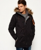 Superdry Parka in microfibra  Nero