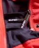 Superdry Cazadora con cremallera doble y capucha Fuji Slim Rosa
