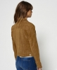 Superdry Suede Billie Bomber Jacket Brown