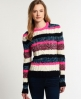 Superdry Twist Stripe Knit  Coral
