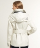 Superdry Cropped Super Raincoat Cream