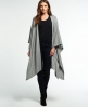 Superdry Colby Wrap Cape Light Grey
