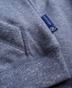 Superdry Applique Luxe Fur Zip Hoodie Blue