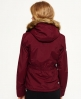 Superdry Hooded Fur Sherpa Wind Attacker Jacket Purple