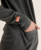 Superdry Orange Label Cardigan Dark Grey