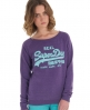 Superdry Vintage Slouch Crew Purple