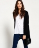 Superdry Rayon Hood Fine Knit Cardigan  Black