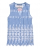 Superdry Broderie Chambray Blouse Blue