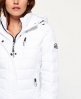 Superdry Hooded Fuji Slim Double Zip Jacket White