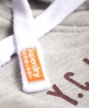 Superdry NY Varsity Team Crop Hoodie  Light Grey