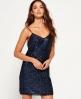 Superdry Premium Sequin Trägerkleid Blau