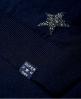 Superdry Pull en maille Jacquard à motif étoile  Bleu Marine