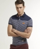 Superdry Dropped Breton Polo Navy