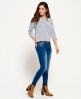 Superdry Cassie Skinny Jeans X Mid Blue