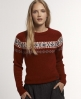 Superdry Meeker Fairisle Crew Red