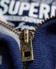 Superdry Core Applique Zip Hoodie Blue