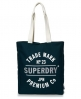 Superdry Athletic League Canvas Tote Bag Green