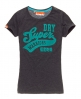 Superdry Warrior Flock T-shirt Navy