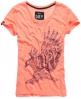 Superdry Big Bad Bird T-shirt Orange
