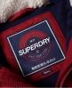 Superdry Tall Marl Steppjacke mit Knebelknöpfen Rot