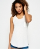 Superdry Ladder Lace Trim Tank Top  Ivory