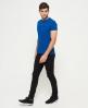 Superdry Orange Label Vintage T-Shirt mit Stickerei Blau