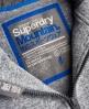 Superdry Storm Sideward Zip Hoodie Grey
