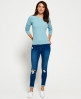 Superdry Summer Luxe Mini Cable Knit Jumper Green