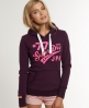 Superdry Saints Hoodie Purple