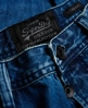 Superdry Officer Straight Jeans Blau