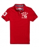 Superdry Super State Piqué Polo-Shirt Rot