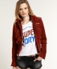 Superdry Betty Cropped Jacket Red